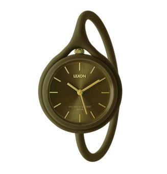 Reloj Lexon Take Time Kaki Gold